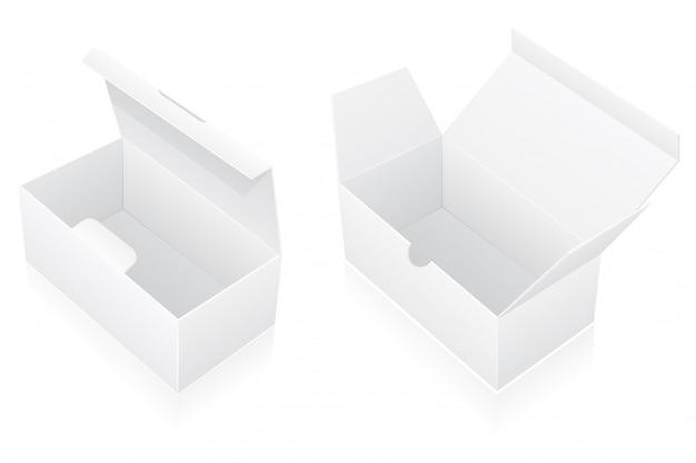Illustration vectorielle vierge de boîte d'emballage Vecteur Premium