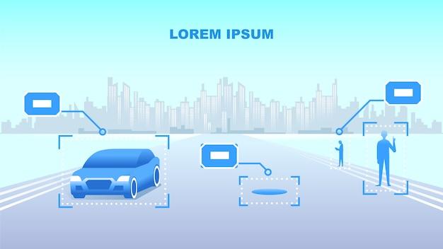 Illustration vectorielle de ville intelligente Vecteur Premium