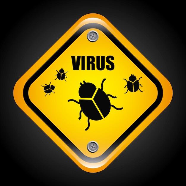 Illustration vectorielle de virus design graphique Vecteur gratuit