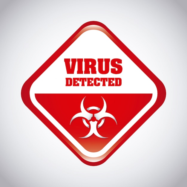 Illustration vectorielle de virus design graphique Vecteur gratuit