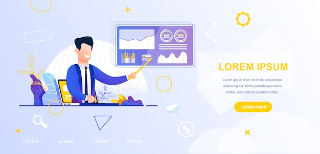 Illustration vectorielle voir le blog de l'entreprise en ligne Vecteur Premium