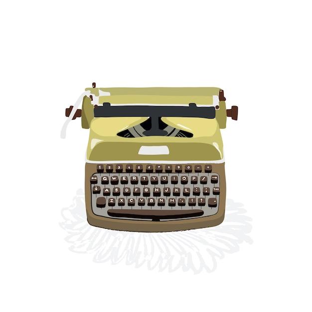 Illustration sur une vieille machine à écrire Vecteur Premium