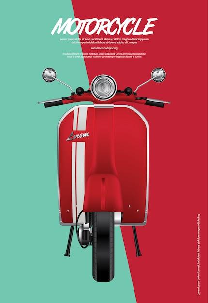 Illustration vintage moto isolé Vecteur Premium