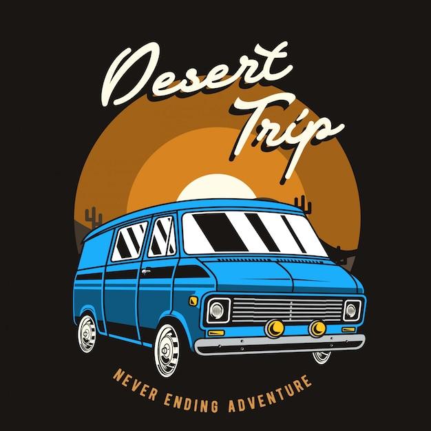 Illustration de voyage dans le désert Vecteur Premium