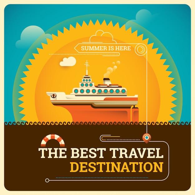 Illustration de voyage Vecteur Premium