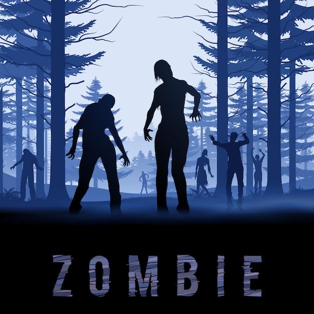 Illustration De Zombie Vecteur Premium