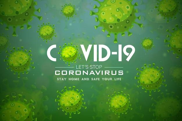 Illustrations Concept Maladie Coronavirus Covid-19 Vecteur Premium