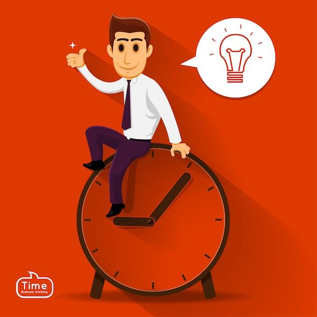 Illustrations conceptes temps managemnet Vecteur Premium