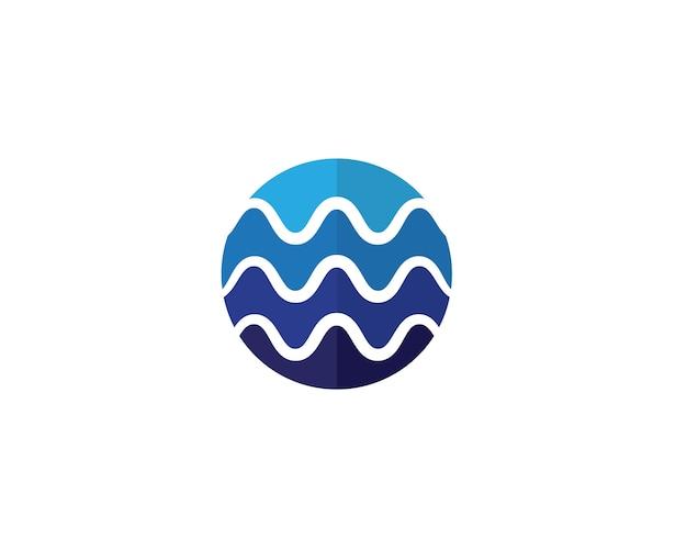 Illustrations de modèle de wavelogo de l'eau Vecteur Premium