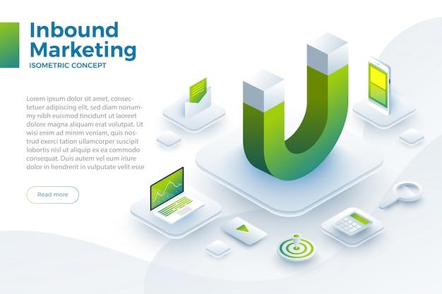 Illustrer le marketing entrant Vecteur Premium