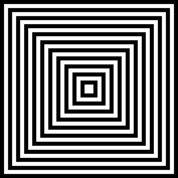 Image abstraite fascinante hypnotique. Vecteur Premium