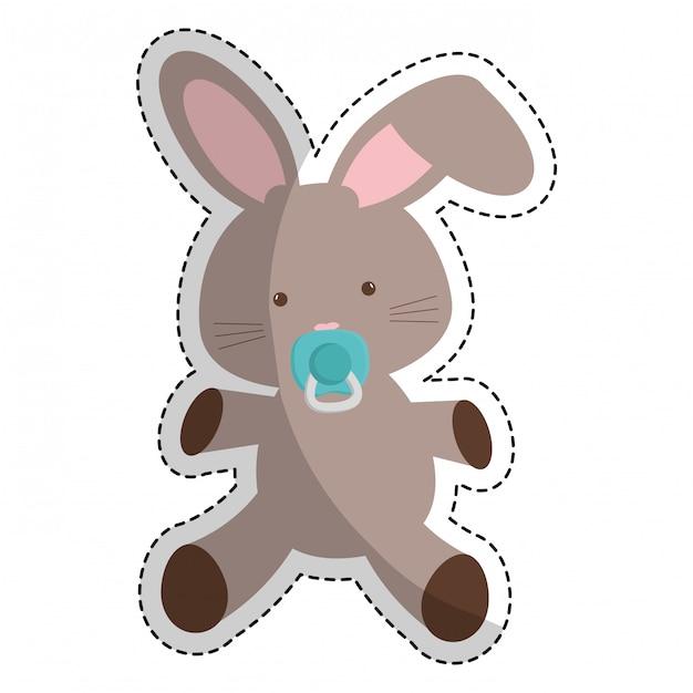 Image de bébé liée icône image Vecteur Premium