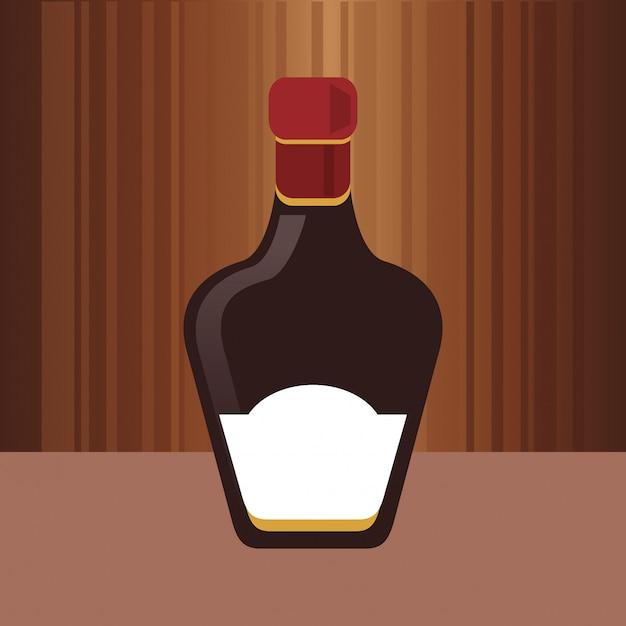 Image de bouteille d'alcool Vecteur Premium