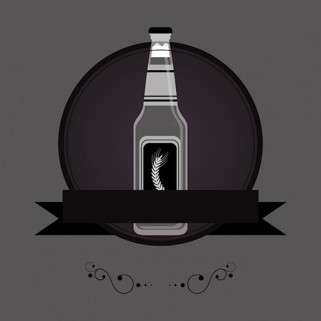 Image de bouteille de bière Vecteur Premium