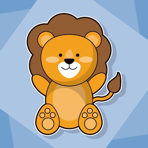 Image De Dessin Animé Animal Bébé Lion Mignon Télécharger Des