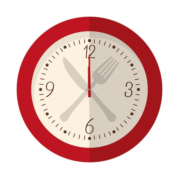 Image d'icône d'horloge murale Vecteur Premium