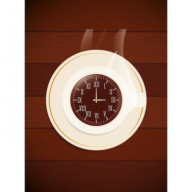 Image d'icône d'horloge Vecteur Premium