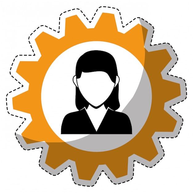 Image d'icône personne bussiness Vecteur Premium