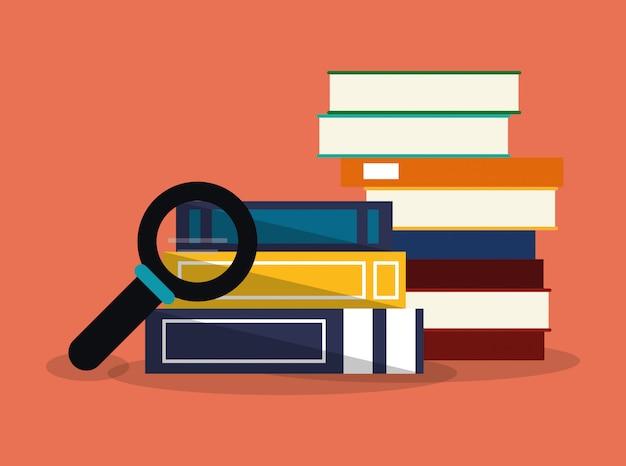 Image des icônes connexes éducation et académie Vecteur Premium