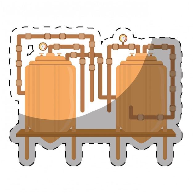 Image d'icônes liées à la bière Vecteur Premium