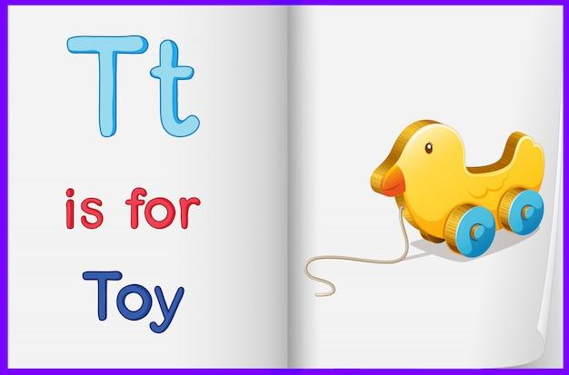 Une image d'un jouet dans un livre Vecteur gratuit