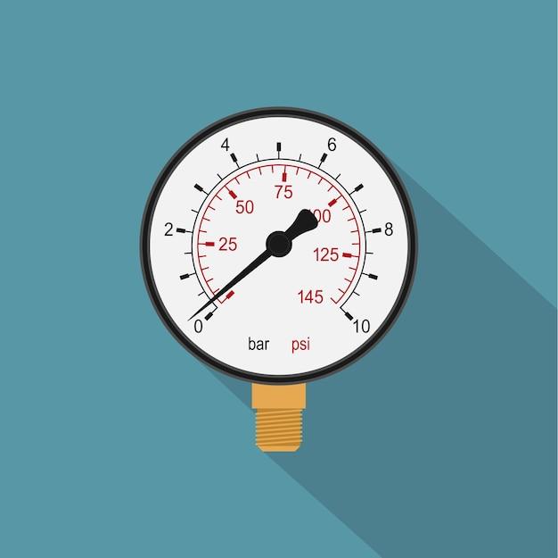 Image D'un Manomètre, Icône De Style Vecteur Premium