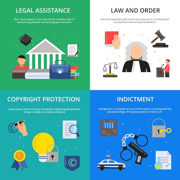 Images Conceptuelles De La Justice Pénale. Vecteur Premium