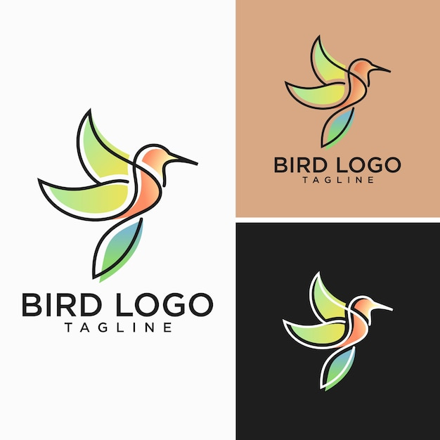 Images du logo creative bird Vecteur Premium