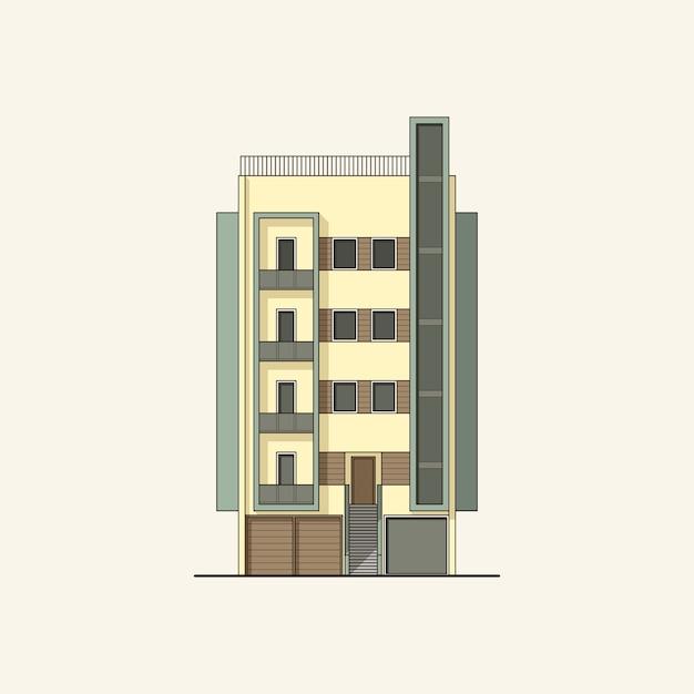 Immeuble moderne Vecteur Premium