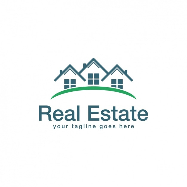 Immobilier Logo Modèle Vecteur gratuit