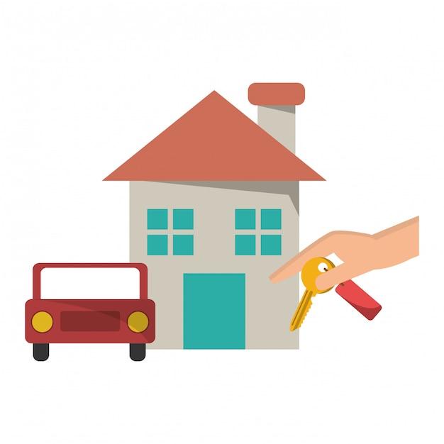 Immobilier Maison Vecteur Premium