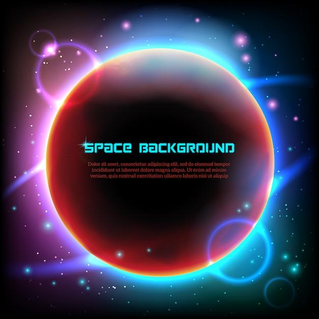 Impression d'affiche sur fond noir de l'espace cosmos Vecteur gratuit