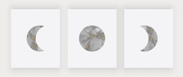 Impression D'art Mural Lune Noire. Affiches De Design Moderne Vecteur Premium