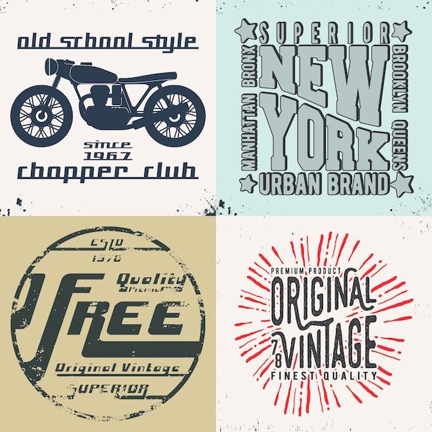 Impression De Design Vintage Pour Timbre De T-shirt Vecteur Premium