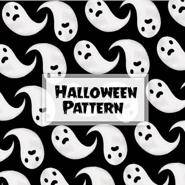 Impression de fond aquarelle halloween Vecteur Premium