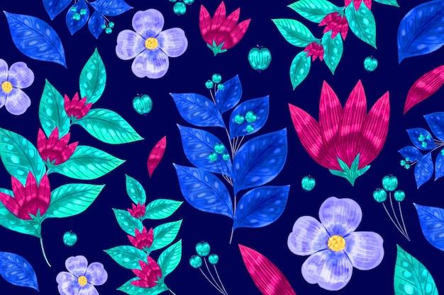 Impression De Fond Floral Moderne Sans Soudure Vecteur gratuit