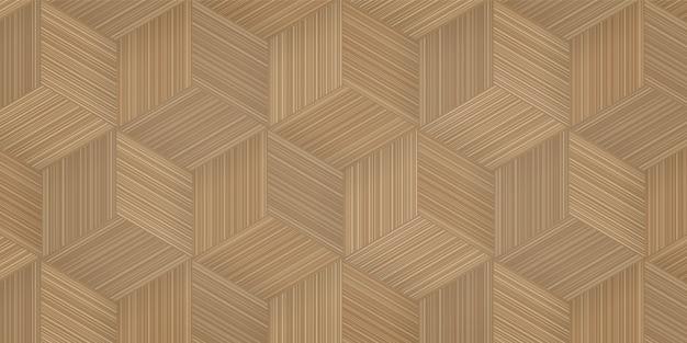 Impression de fond de vannerie en bambou. Vecteur Premium