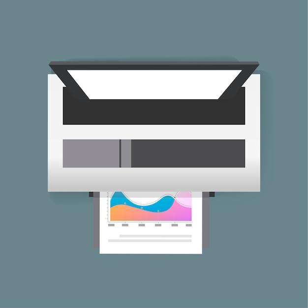 Imprimante Vecteur gratuit