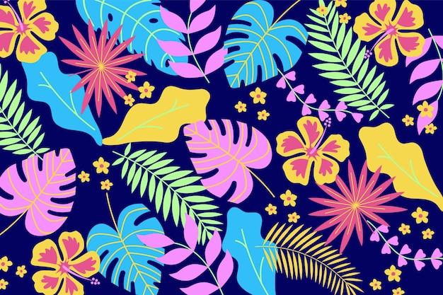 Imprimé Floral Ditsy Coloré Sur Papier Peint Blanc Vecteur gratuit