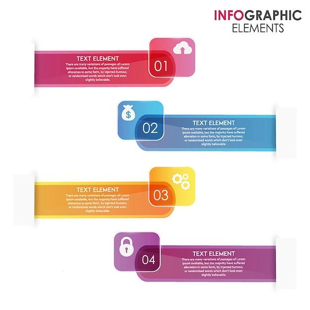 Incredible vector ingographics designs Vecteur gratuit
