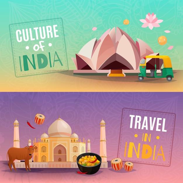 Inde bannières horizontales Vecteur gratuit