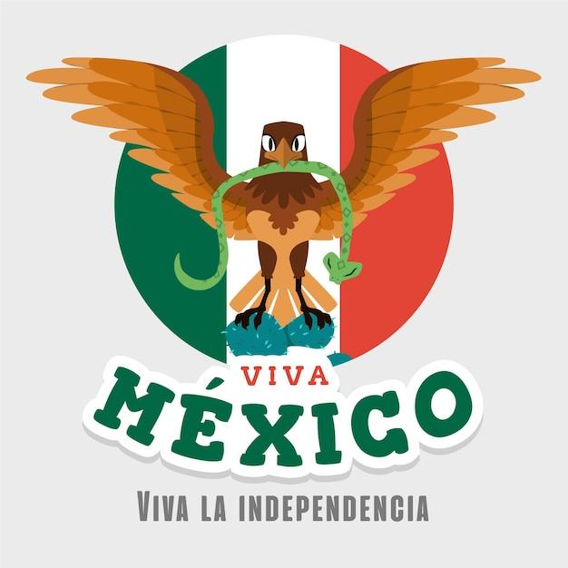 Indépendance Du Mexique Design Dessiné à La Main Vecteur Premium