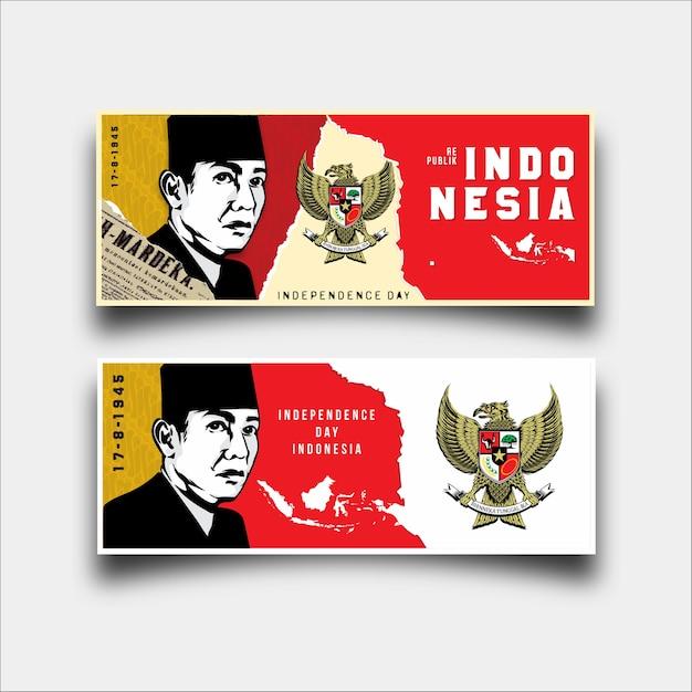 Indépendance jour indonésie Vecteur Premium