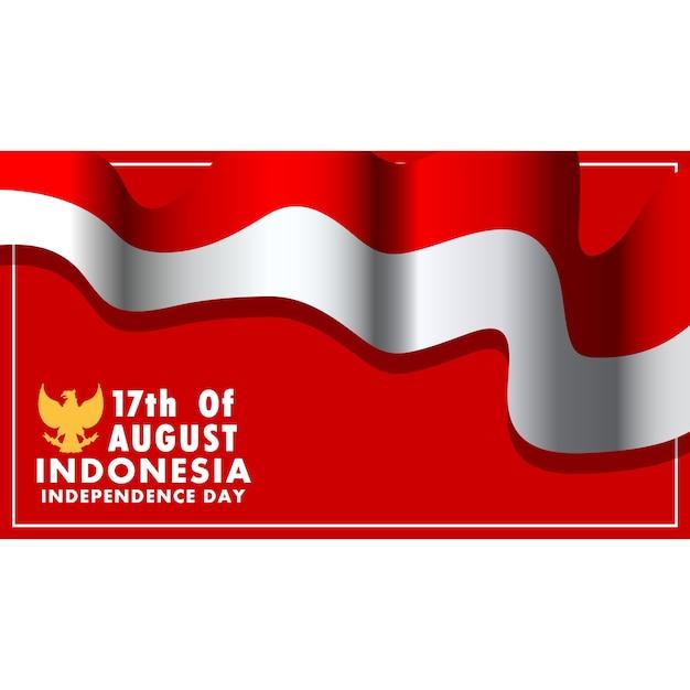 Indonésie jour de l'indépendance fond d'écran Vecteur Premium