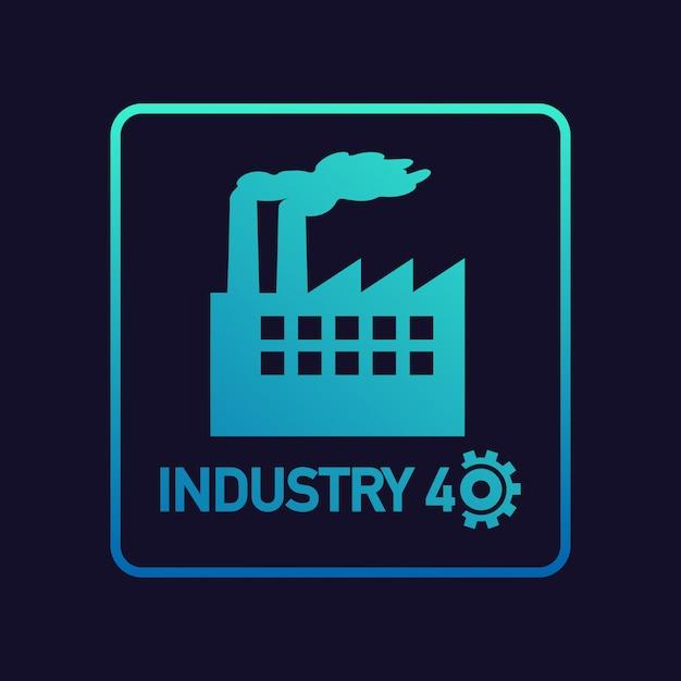 Industrie 4.0. Art Conceptuel Industriel Pour Le Développement Des Usines Modernes. Vecteur Premium