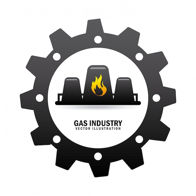 Industrie du gaz Vecteur gratuit