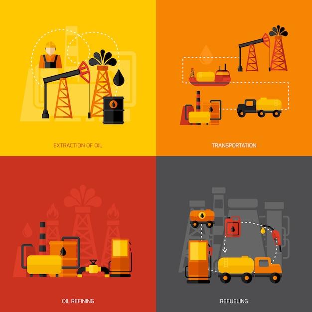 Industrie pétrolière Vecteur gratuit