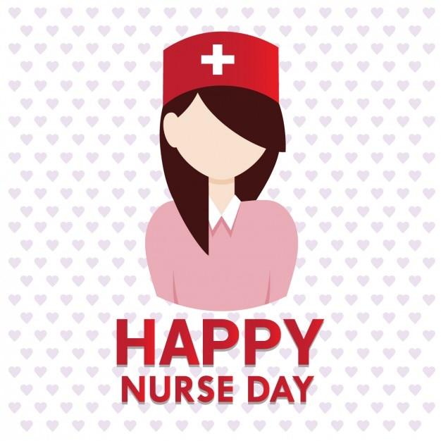 Infirmière carte de voeux jour Vecteur gratuit