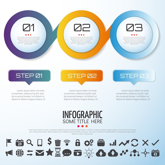 Infographics template design Vecteur gratuit