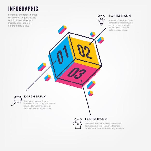 Infographie 3d minimale Vecteur Premium